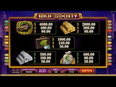 High Society slotsgames77.com Quickfire 5/5