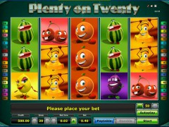 Plenty on twenty slotsgames77.com Greentube 1/5