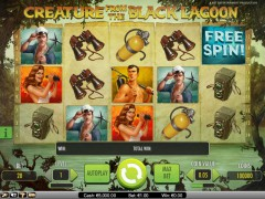 Creature from the Black Lagoon slotsgames77.com NetEnt 2/5